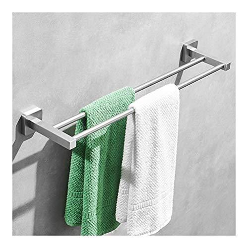 Douchecaddies Shelf Wall Mounted handdoekradiator Double 40-100 cm roestvrij staal Easy Clean Towel Bar Chrome rek Rechthoekige badkamer accessoire YB D-11 (Size : 40cm)