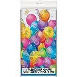 Mantel de Plástico - 2,13 m x 1,37 m - Fiesta de Feliz Cumpleaños