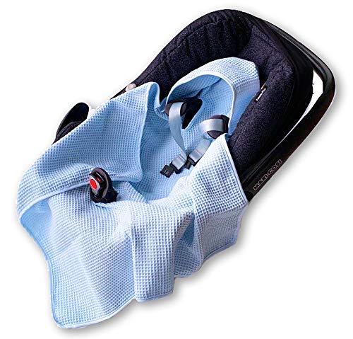 BABEES© Couverture de protection en tissu gaufré en coton gaufré pour siège auto universel par exemple Maxi-Cosi Römer Cybex Printemps été Baby Couverture pour poussette bébé sans rembourrage