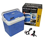 Marko Cool Box Food Drinks Cooler Electrical Heater Portable (24 Litre Electrical Coolbox)