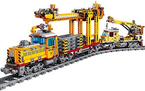 Juego de pistas de tren de calendario de Adviento para bricolaje modelo de bloque de construcción locomotora juguete con luz, 1174 + piezas compatibles con Lego Technic (Trein Dpk32)