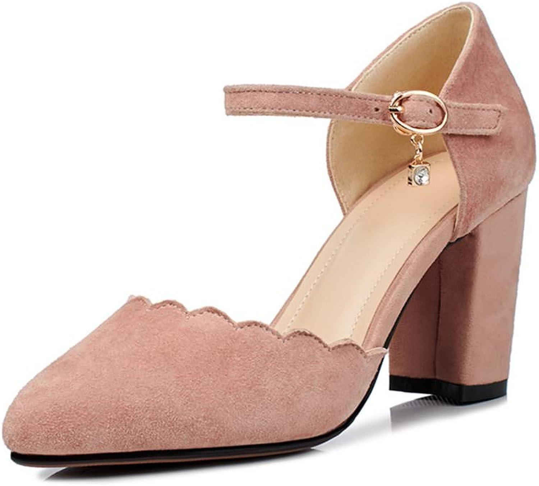 DecoStain Women's Ruffles Mid Heel Sandals