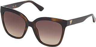 Guess Classic Square Women's Sunglasses, Havana with Brown Gradient Lenses GU7612F 52F Lens 55mm