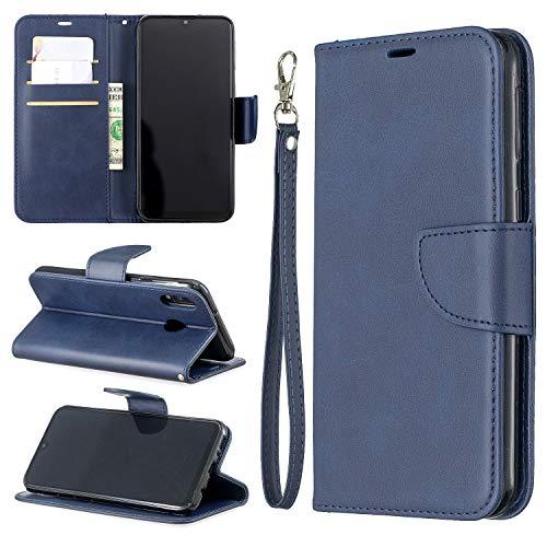JIAHENG Caja del teléfono Estuche para Samsung Galaxy M20 Multifuncional Cartera Teléfono Móvil Caja de Cuero Premium Color Sólido PU Caja de Cuero, Titular de la Tarjeta de crédito Función Fu