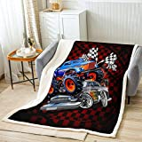 Manta de cama con estampado de caricatura, color azul plateado para niños, regalo de niños, manta de poliéster suave a cuadros rojos, color negro a cuadros para sofá, tamaño de bebé (30 x 40 pulgadas)