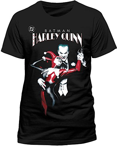 Batman Joker & Harley Quinn Camiseta, Negro (, XXL para Hombre