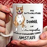Tazza Amstaff - Regalo per Donna, Razza American Staffordshire Terrier