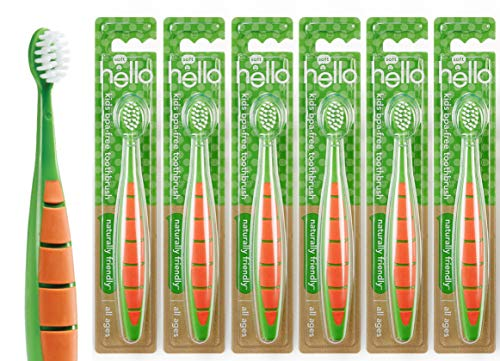 Hello Kids & Toddler BPA-Free Soft Bristle Toothbrush - Promotes Oral and Gum Health for All Ages - 6 Count
