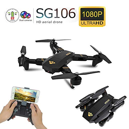 Drones Visuo XS809W XS809HW Quadcopter Mini Plegable Selfie WiFi FPV 0.3MP / 2MP Control de altitud de cámara RC Vs JJRC H47 E58