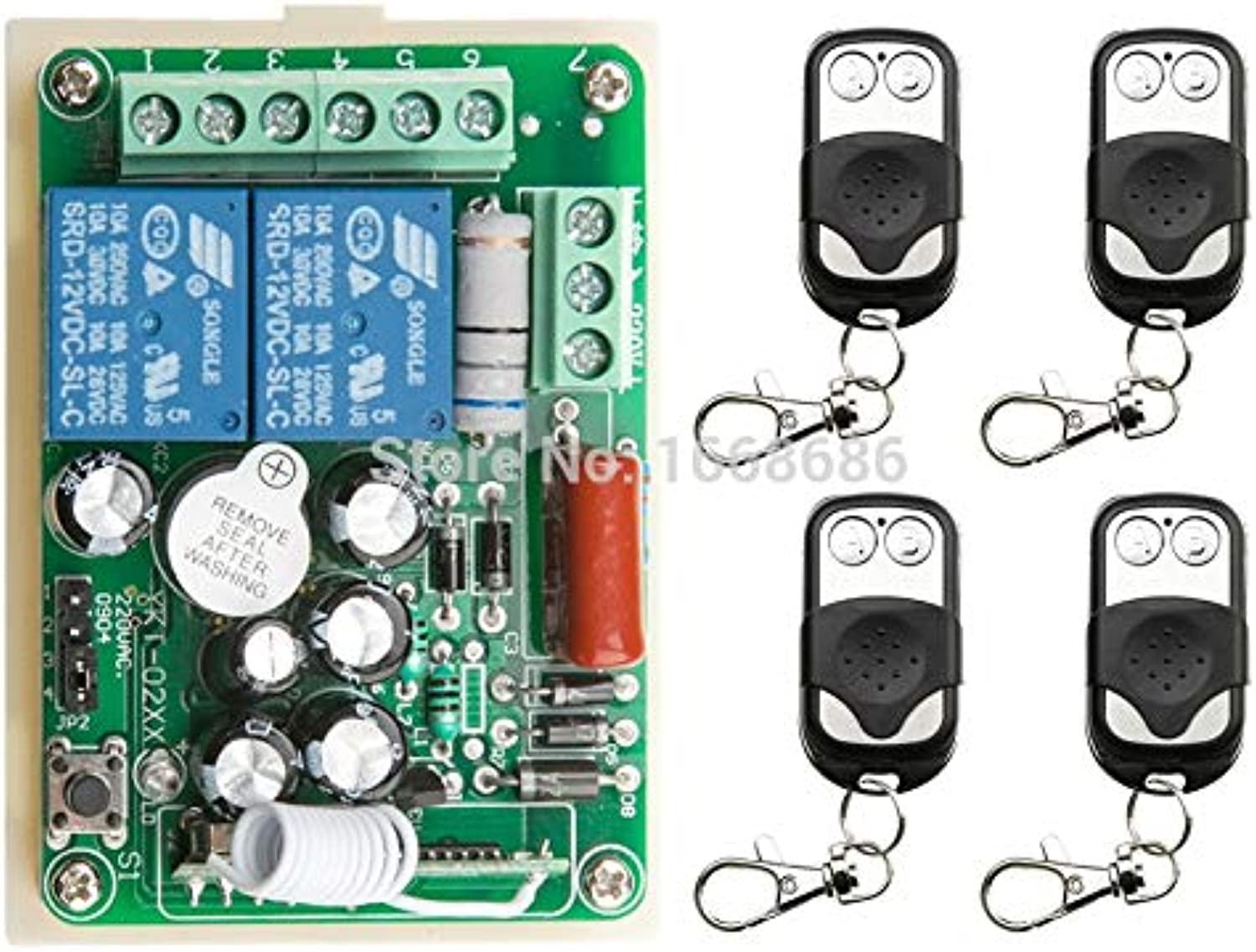 New AC220V 1CH 10A Radio Controller RF Wireless Push Remote Control Switch 315 MHZ 433 MHZ teleswitch 4 Transmitter +1 Receiver