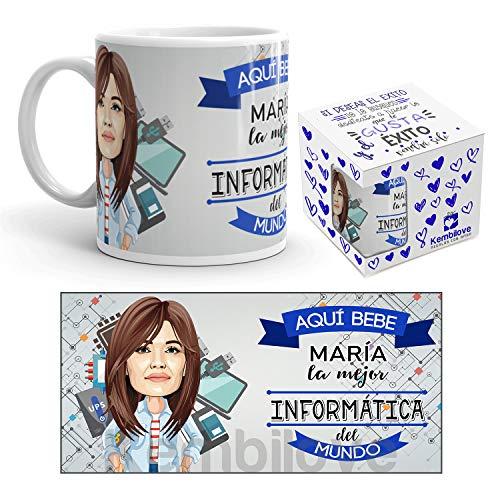 Kembilove Taza Personalizada Caricatura y Nombre – Taza de Café Mejor Abogada del Mundo – Taza de Desayuno para la Oficina – Taza de Café y Té para Profesionales – Tazas para Informáticas