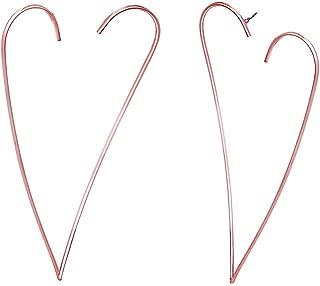 Steve Madden Open Heart Post Drop Earrings