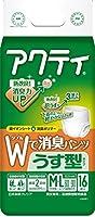 日本製紙 アクティ Wで消臭パンツうす型タイプM-L16枚 x1個 Japan