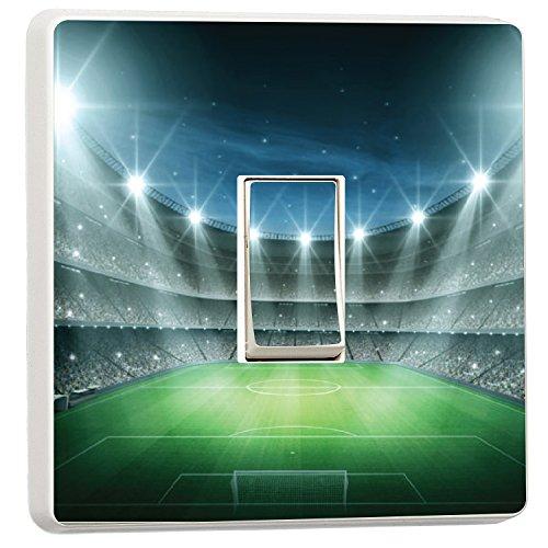 Cool Football stadium night floodlit Kids Boys light switch cover...