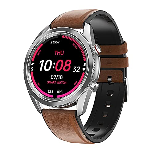 QFSLR Smartwatch 1.3 ″ Pantalla Táctil Frecuencia Cardíaca Presión Arterial Sueño Spo2 Monitoreo Llamada Bluetooth IP67 Podómetro Impermeable Reloj Deportivo Inteligente,Silver b