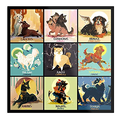 ARCHERS New Norse Chinese Greek Year Dogs Mythology Lunar Egyptian The Best and Style Home Decor Wall Art Print Poster with only Size 16x24 inch