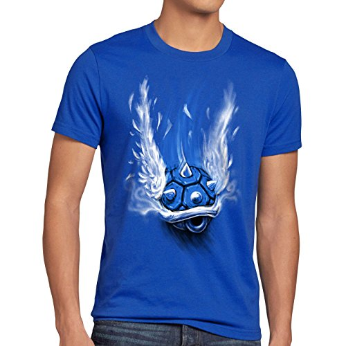 style3 Blauer Panzer T-Shirt Her...