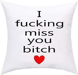 BLEUM CADE I Miss You Throw Pillow Cover Valentine's Day Throw Pillow Case Decorative Pillowcase for Sofa Car Home Office