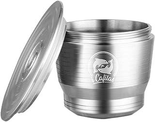 longrep Cápsula Reutilizable, cápsulas de café compatibles de Acero Inoxidable, Filtro de café Recargable Filtro de cápsula de Acero Inoxidable