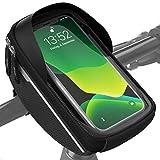 Velmia Borsa da Manubrio per Bicicletta Impermeabile, Porta Cellulare per Bicicletta Ideale per la Navigazione, Borsa per Bicicletta, Borsa Cellulare