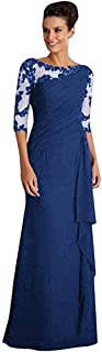 HIZLJJ Women's Maxi Long Evening Prom Dress Embroidered Formal Party Cocktail Gowns Women's Neck Adjustable Spaghetti Straps Summer Dress Sexy Backless Party Dresses (Color : Blue, Size : XXL)