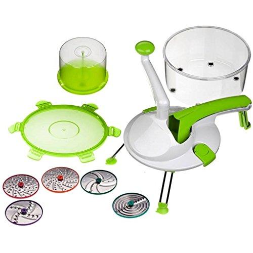 Genius - Roto Champ 8-tlg. Küchenmaschine grün 25088