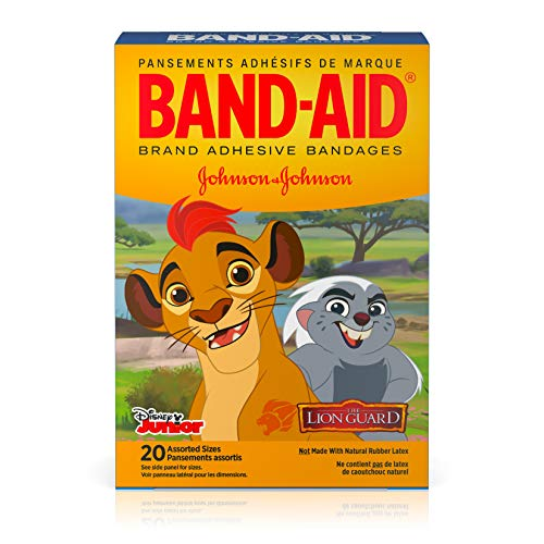 Price comparison product image Band-Aid Brand Adhesive Bandages for Minor Cuts and Scrapes,  Featuring Disney Junior The Lion Guard Characters for Kids,  Assorted Sizes 20 ct