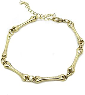 Anxiety Bracelet Punk Gothic Bone Chain Bracelet Bangle Vintage Jewelry 3 Colors Unisex Fashion