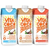 Vita Coco Boosted Coconut Water Sampler Pack | With MCT Oil, Caffeine, Vitamin B | Coffee Drink Alternative for Natural Energy | 16.9 Oz (Pack of 3) (Chocolate, Chai & Vanilla Latte)