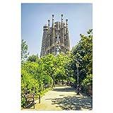 artboxONE Poster 120x80 cm Städte Sagrada Familia