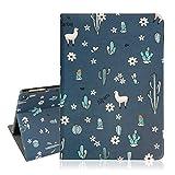 Llama iPad Air 9.7 Case, Llama Cactus Folio Stand Smart Tablet Case Cover Auto Sleep Wakeup for iPad Air 1 and 2 5th/6th Gen 2017 2018