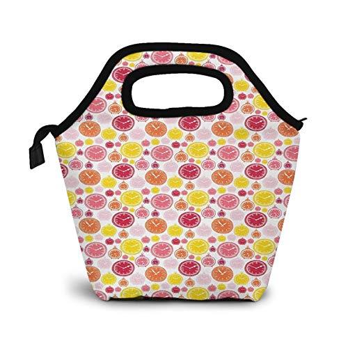 Bolsa Térmica Comida Bolsas De Almuerzo para Mujeres Hombres Niñas Niños Bolsa Isotérmica De Almuerzo Reloj 29
