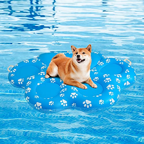 KOOLTAIL Dog Pool Float Inflatable Raft - Large...