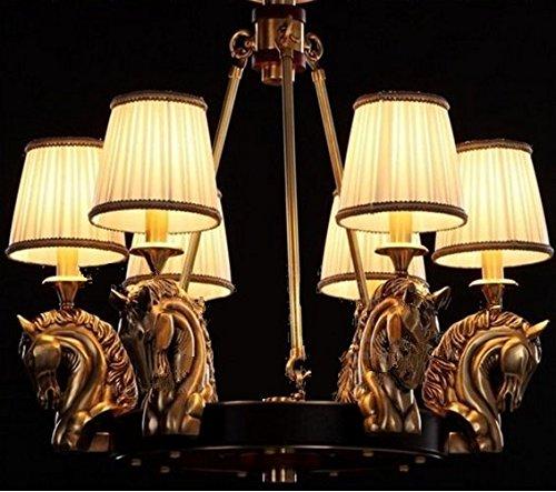 GOWE Vintage colgante luz lámpara colgante de cobre E14110/220V lámpara de techo...