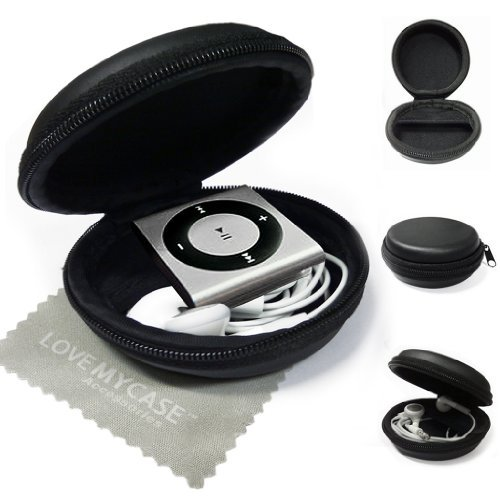 LOVE MY CASE / MP3 Player Case, cover, shell - Clamshell Style with Zip Enclosure For Apple iPod Shuffle 2nd / 3rd / 4th Generation / with Love my Case Cleaning cloth
