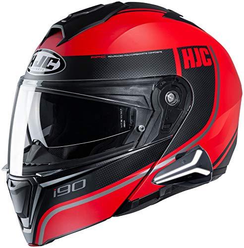 HJC i90 Modular Motorcycle Helmet With Sena 20B Bluetooth Headset Davan MC1SF X-Large