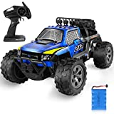 RC Car, Remote Control Car Off Road Truck, 2.4Ghz 4WD Off Road Rock Crawler Vehicle, 1:18 All Terrain Rechargeable Electric Toy for Boys & Girls Gifts