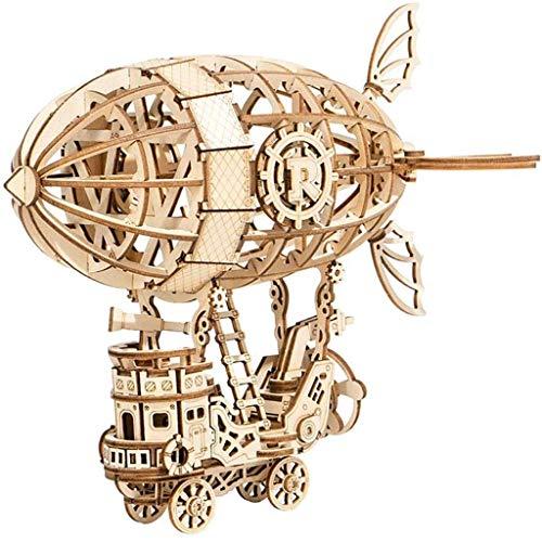 Mechanisches 3D-Holzmodell für Luftschiffe, Laserschneiden eines Holzpuzzle-Modellbausatzes, Modellbausatz für Holzmontage für Erwachsene Jugendliche, für Schulpräsentationswerkzeug
