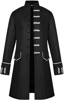 Cappotto da Uomo Manica Lunga Moda retrò Steampunk Tuxedo Uniforme da Uomo Cappotto da Uomo Cappotto Frac Giacca Gotico Re...