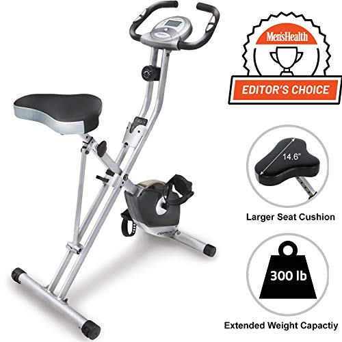 Exerpeutic Folding Magnetic Upright Bike with Pulse and maximum weight...