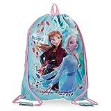 Disney Frozen Awesome Moves Sacca zaino Azzurro 30x40 cms Microfibra e PVC.
