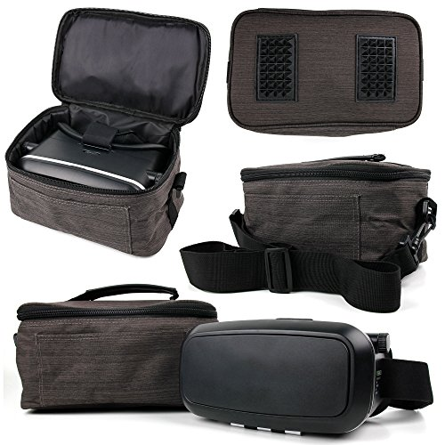 Compatible with The ZOGIN Sakura 30X60 Zoom Mini Portable Binoculars DURAGADGET Water-Resistant Black /& Grey Cross-Body Carry Bag