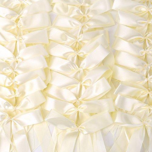 50 Beige Antennenschleifen Schleifen Autoschmuck Autoschleifen Handgemacht Satinband Brautwagen Deko Hochzeit Party