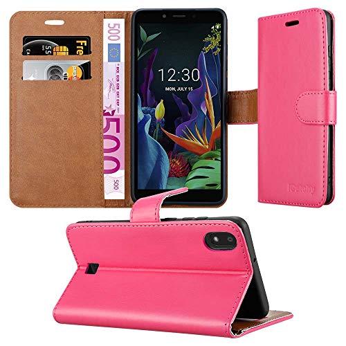 iPeak Tasche für LG K20 2019 Handyhülle Leder Magnetverschluss Flip Wallet Book Schutzhülle für LG K20 Handytasche