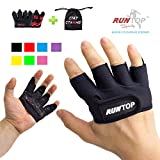RUNTOP Workout Grip Gloves Crossfit WODS Fitness Gym Yoga Exercise Weight Lifting Powerlifting...