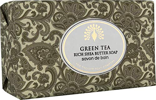 The English Soap Company, Vintage Wrapped Shea Butter Soap, Green Tea, 200g