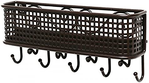 Wall Mount High quality new Mail Letter and Key New mail order Bronze Rack Holder Organizer