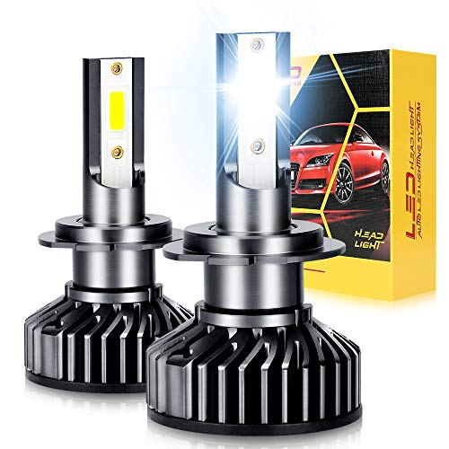 Oppulite H7 Led Bombillas Faros para Coches,12000LM 70W Luces Led Coche,12V/36V 6500K Blanco, 2 Lámparas,Conversión Led