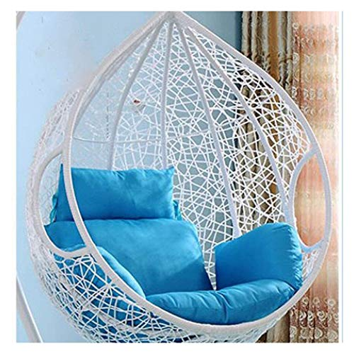 LLNN Home Decoration Swing Chair Cushion Thicken Hanging Egg Hammock Chair Pads, Swing Hanging Basket Seat Cushion for Patio Garden, Parent Gift Hanging Basket Furniture Cushion (Color : Sky Blue)