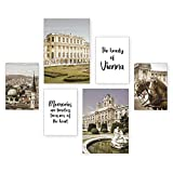 Poster-Set | Wien | 6 Bilder Deko Wohnzimmer Modern
